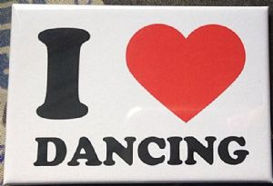 I Love (Heart) Dancing fridge magnet   (se)